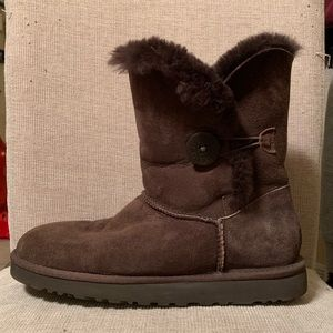 Chocolate brown Bailey Button Ugg boots